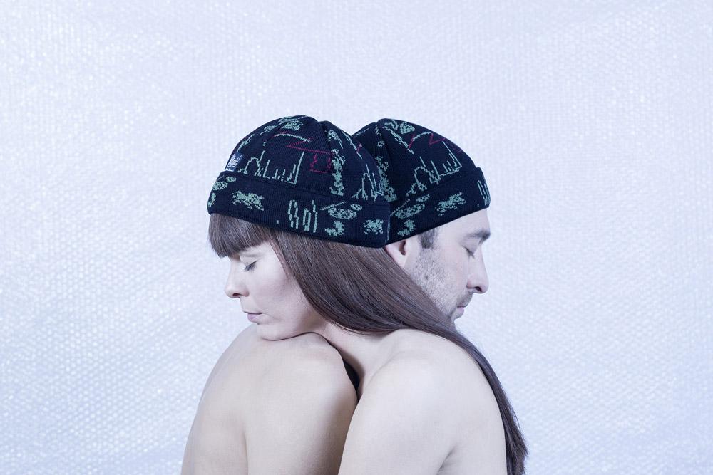 Retart — kulich — zimní čepice — černá — Juliana Chomová