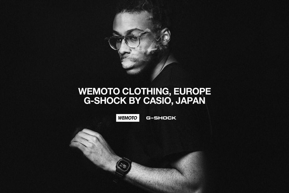 Wemoto x Casio G-shock — černé hodiny — digitální