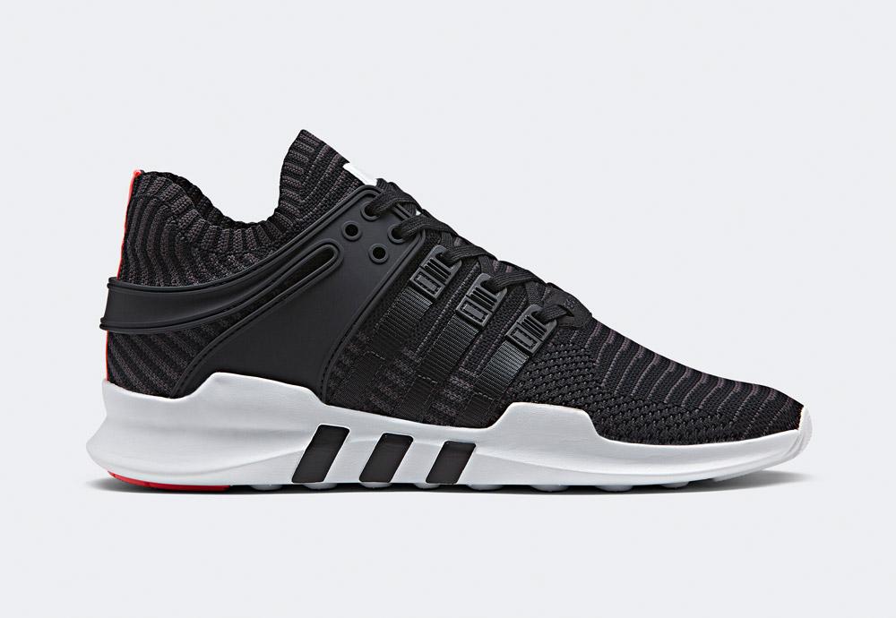 adidas Originals — EQT Support ADV PK — boty — tenisky — sneakers — bílo-černé, křiklavě červené detaily
