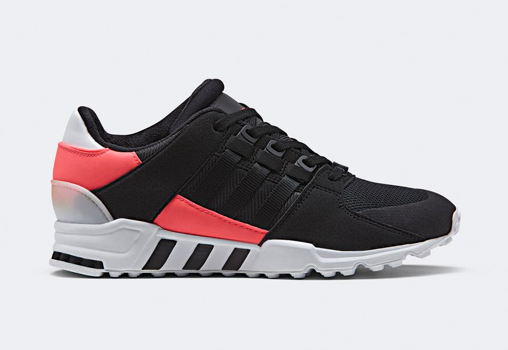 adidas Originals — EQT Support RF — boty — tenisky — sneakers — bílo-černé, křiklavě červené detaily