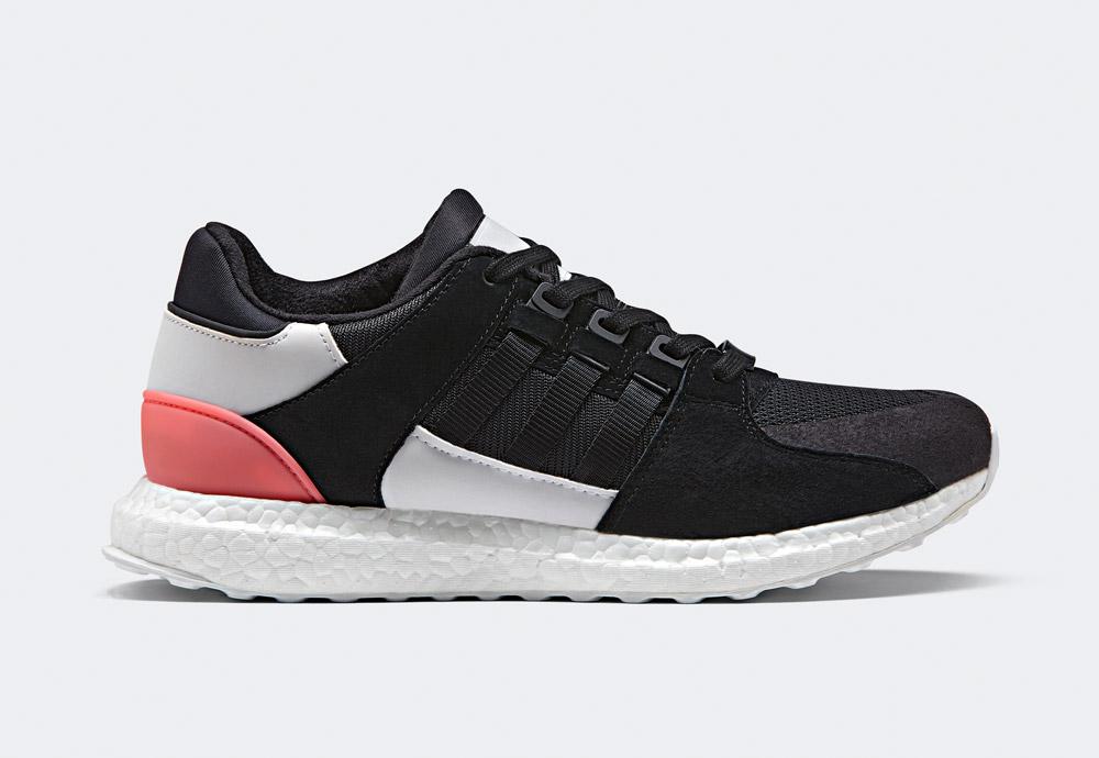 adidas Originals — EQT Support Ultra — boty — tenisky — sneakers — bílo-černé, křiklavě červené detaily