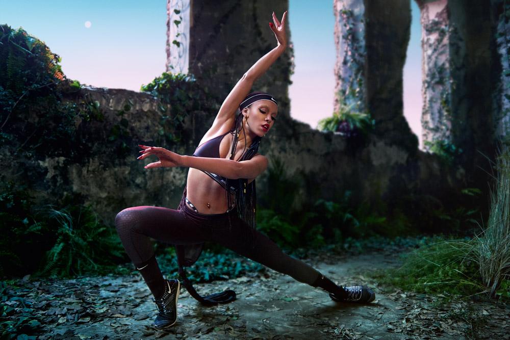 FKA twigs x Nike — kampaň — Zonal Strength Tights