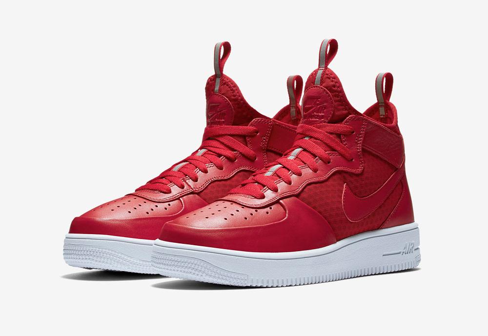 Nike Air Force 1 Ultra Force Mid — kotníkové boty — tenisky — sneakers — pánské — červené