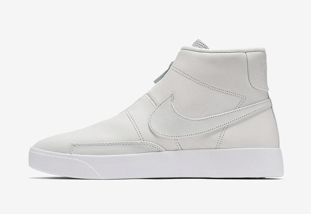 Nike Blazer Advanced — pánské kotníkové boty — bez tkaniček — sneakers — bílé, krémové