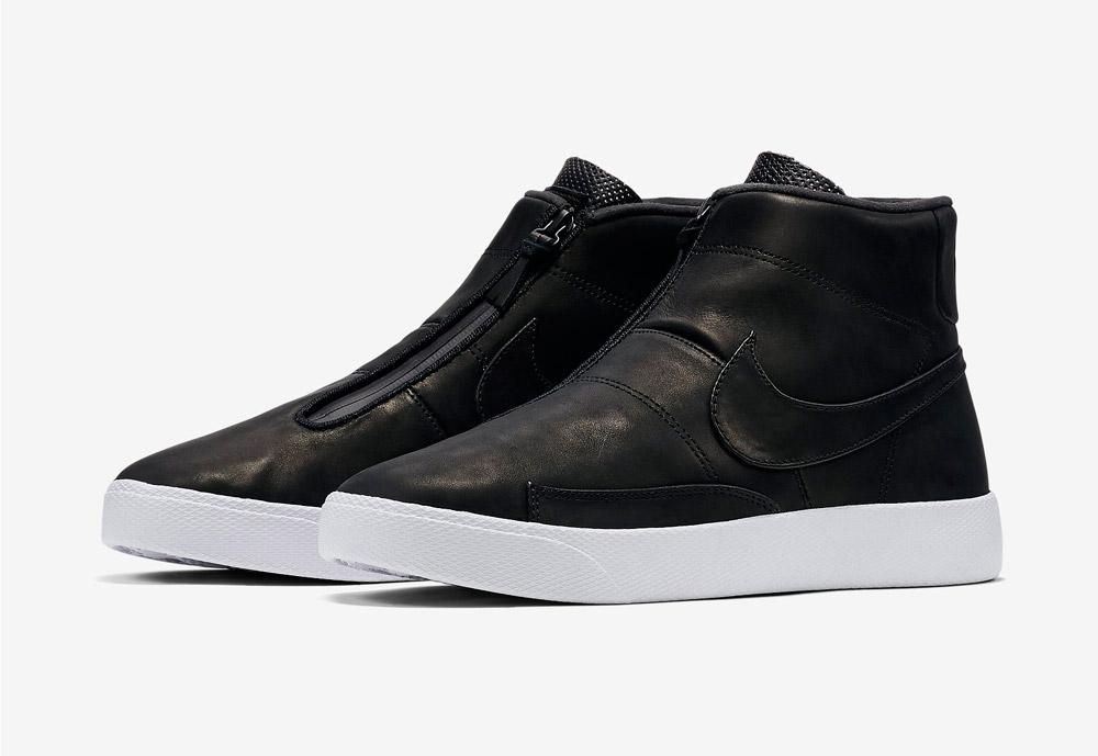 Nike Blazer Advanced — pánské kotníkové boty — bez tkaniček — sneakers — černé