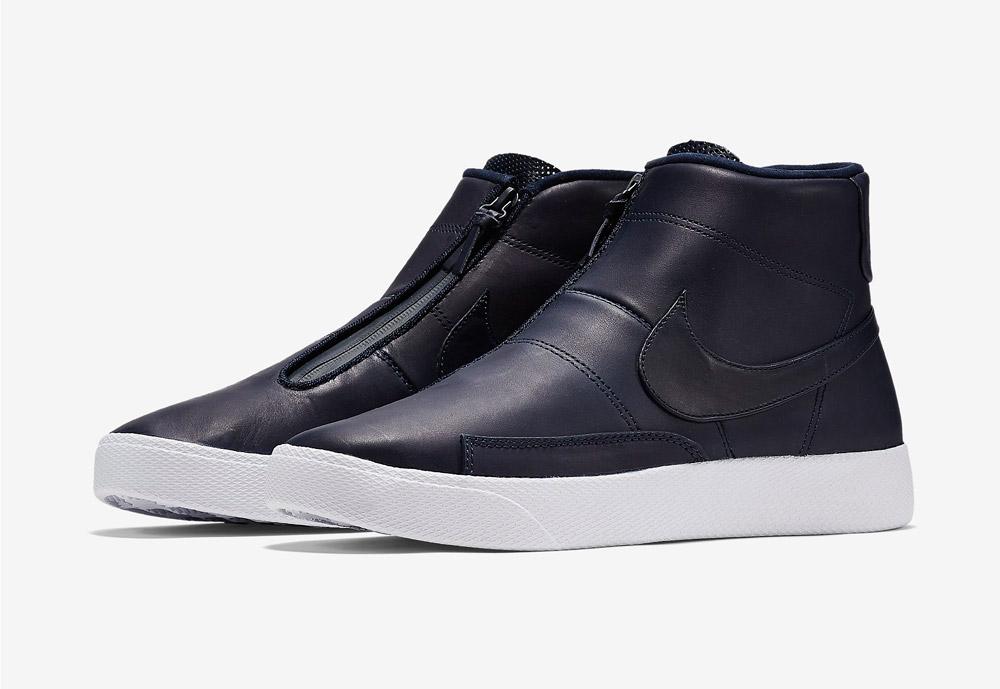 Nike Blazer Advanced — pánské kotníkové boty — bez tkaniček — sneakers — tmavě modré