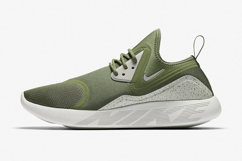Nike LunarCharge Essential — boty — tenisky — sneakers — pánské — zelené, olivové