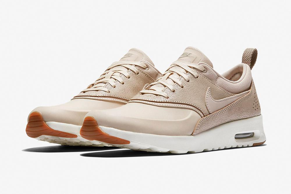 Nike Air Max Thea Premium WMNS — dámské boty — tenisky — sneakers — světle hnědé, krémové