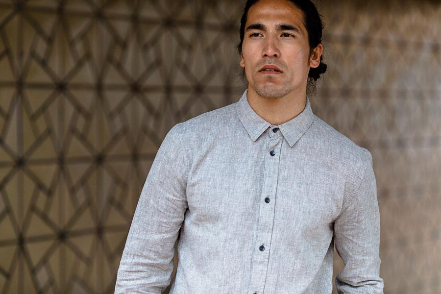 Anerkjendt — pánská šedá košile — dlouhé rukávy