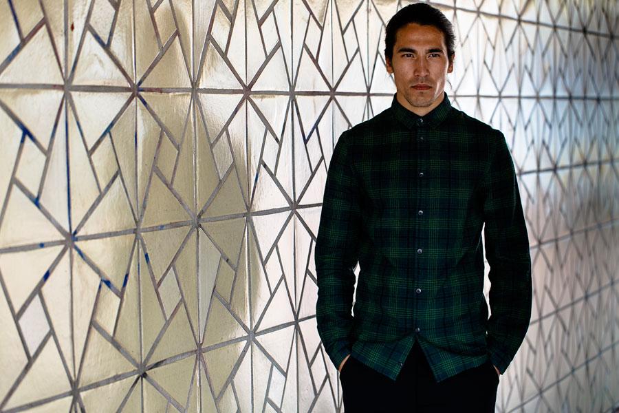 Anerkjendt — zelená kostkovaná košile — pánská — dlouhé rukávy
