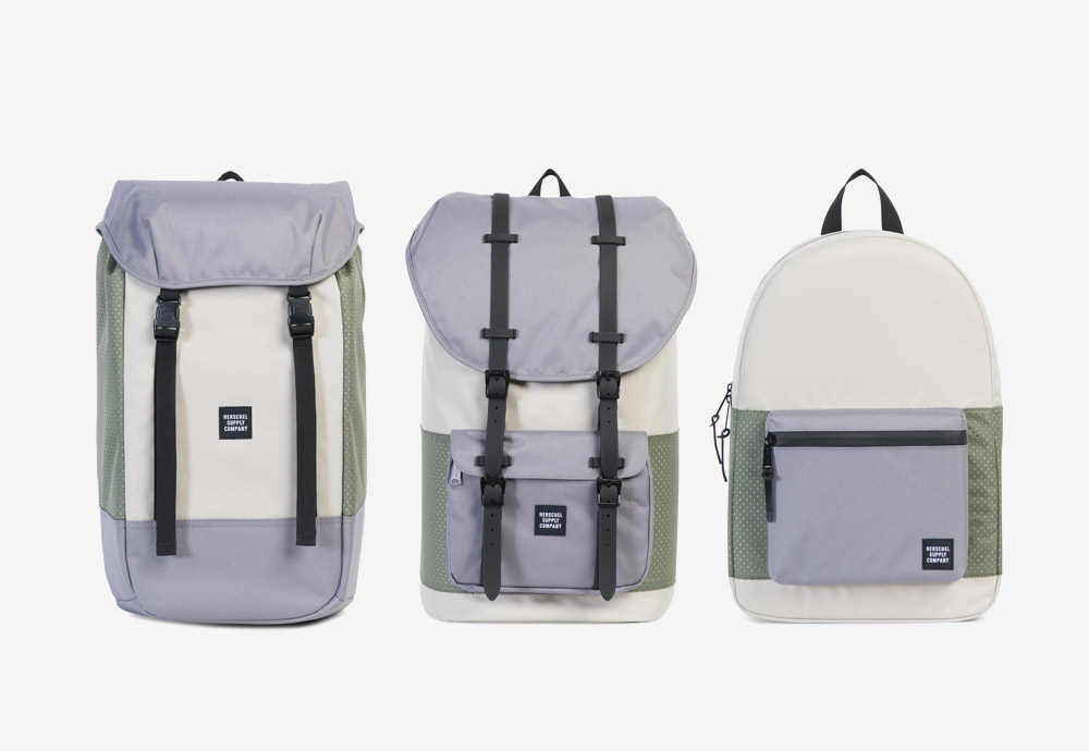 Herschel Supply batohy pastelových barev — fialovo-zeleno-krémové