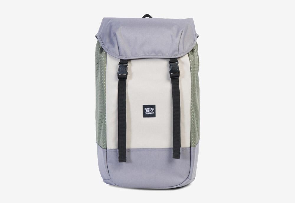 Herschel Supply — batoh — Iona Backpack — Pelican/Deep Lichen Green — zelený, krémový, fialový