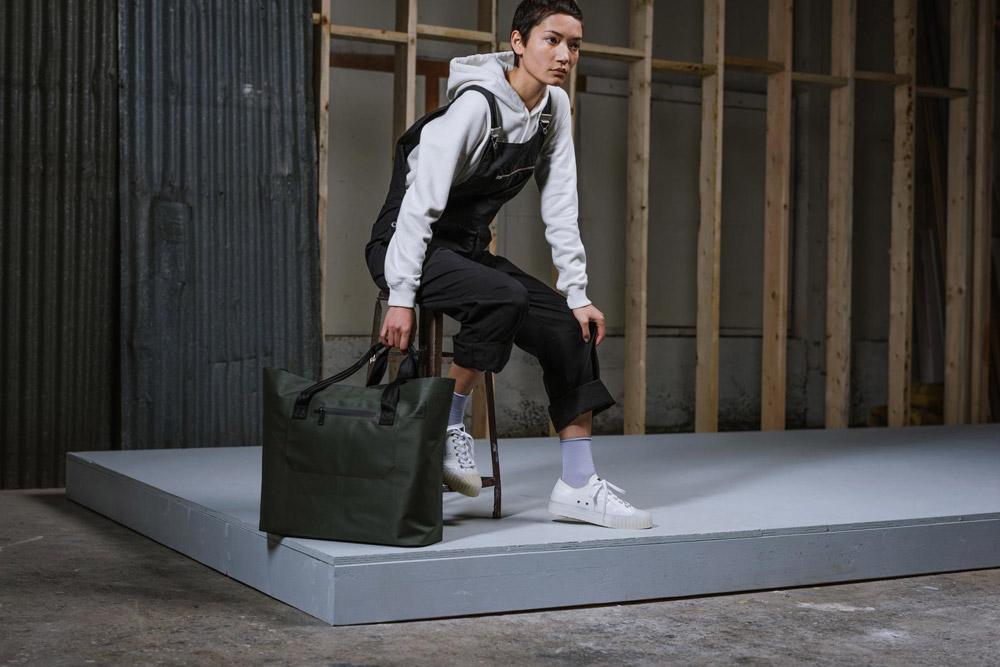Herschel Supply — Studio — taška — Alexander Tote Tarpaulin — zelená, olivová