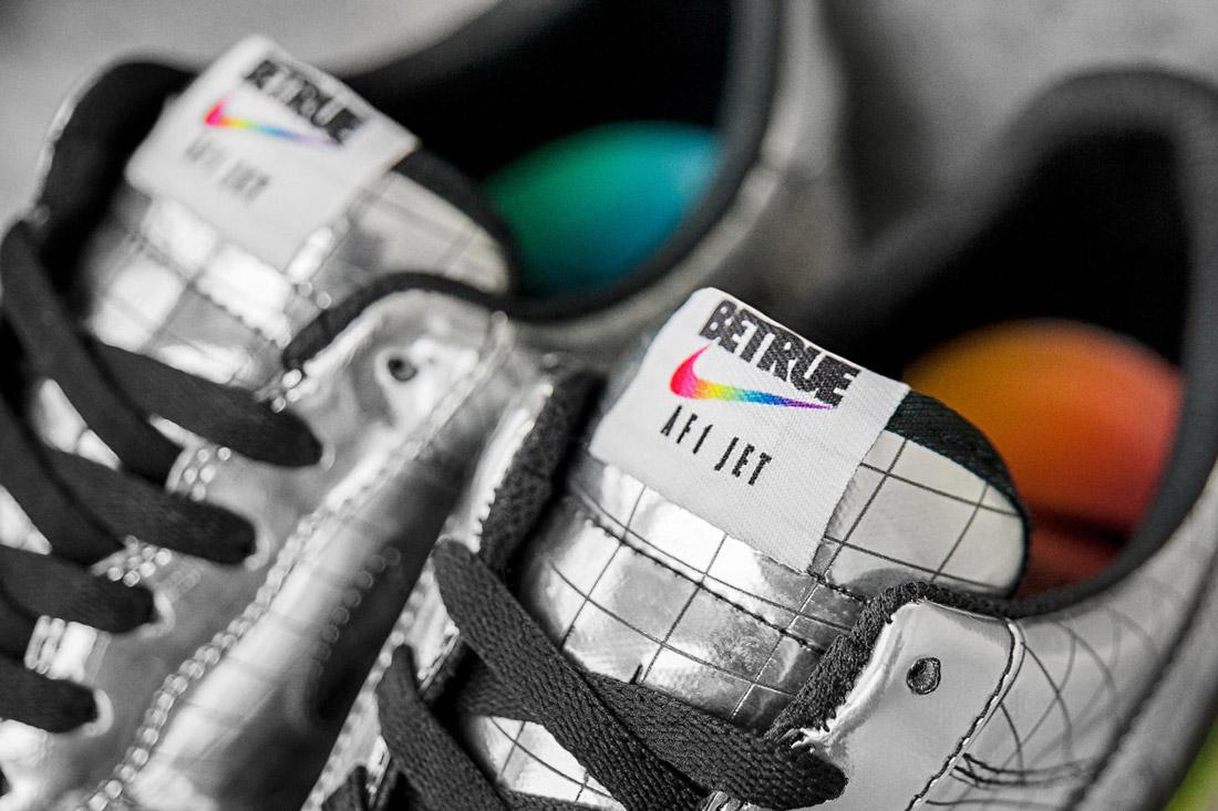 Nike Air Force 1 PE JET — Elton John — tenisky stribrne barvy — sneakers — boty