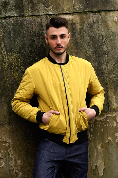 Amokrun — pánský bomber — žlutý — jarní bunda do pasu