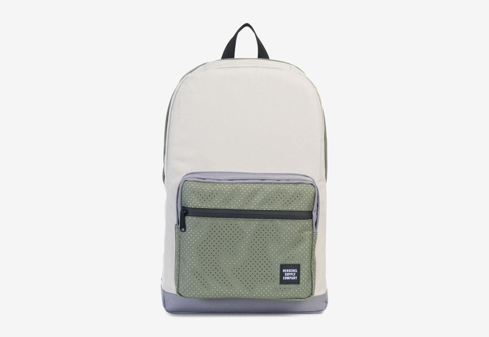 Herschel Supply — batoh — Pop Quiz Backpack — Pelican/Deep Lichen Green — zelený, krémový, fialový