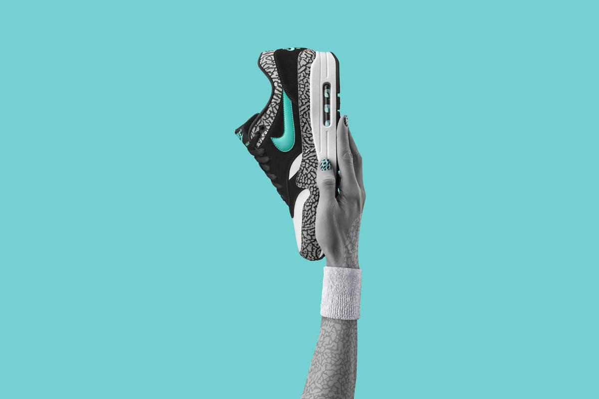 Nike Air Max 1 atmos Elephant — boty — tenisky — sneakers — červeno-černo-šedé — Nike Air Max Day 2017