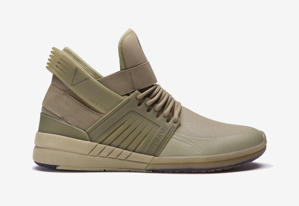Supra Skytop V — kotníkové boty — sneakers — tenisky — zelené, olivové