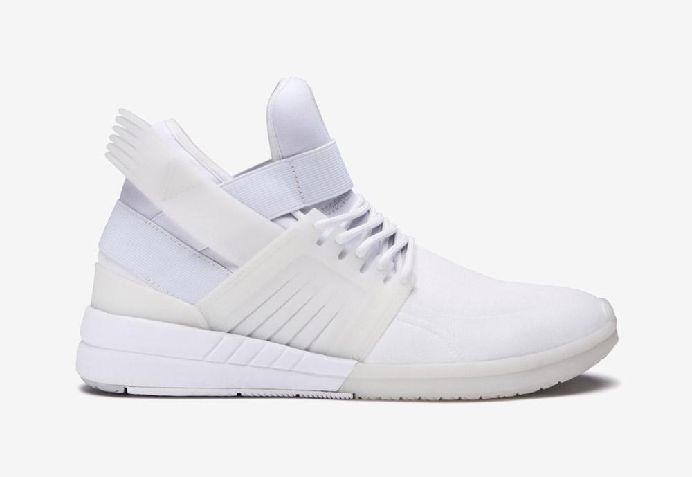 Supra Skytop V — kotníkové boty — tenisky — sneakers — bílé