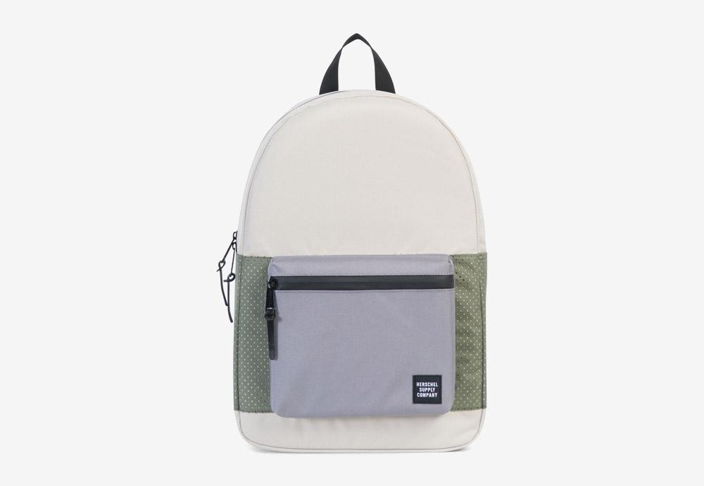 Herschel Supply — batoh — Settlement Backpack — Pelican/Deep Lichen Green — zelený, krémový, fialový