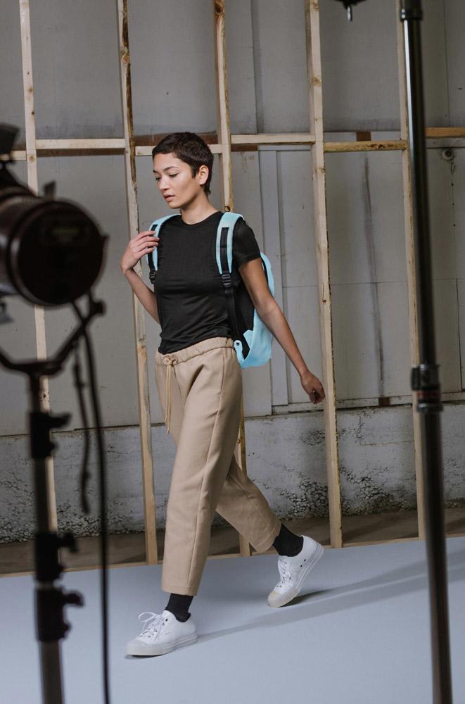 Herschel Supply — Studio — batoh — Settlement Backpack Mid-Volume Tarpaulin — bledě modrý, pastelová