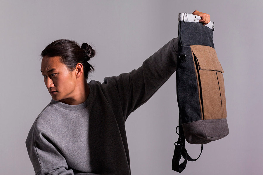 Ucon Acrobatics — batoh — tmavě šedý, hnědý — sustainable, vegan — Dermot Backpack