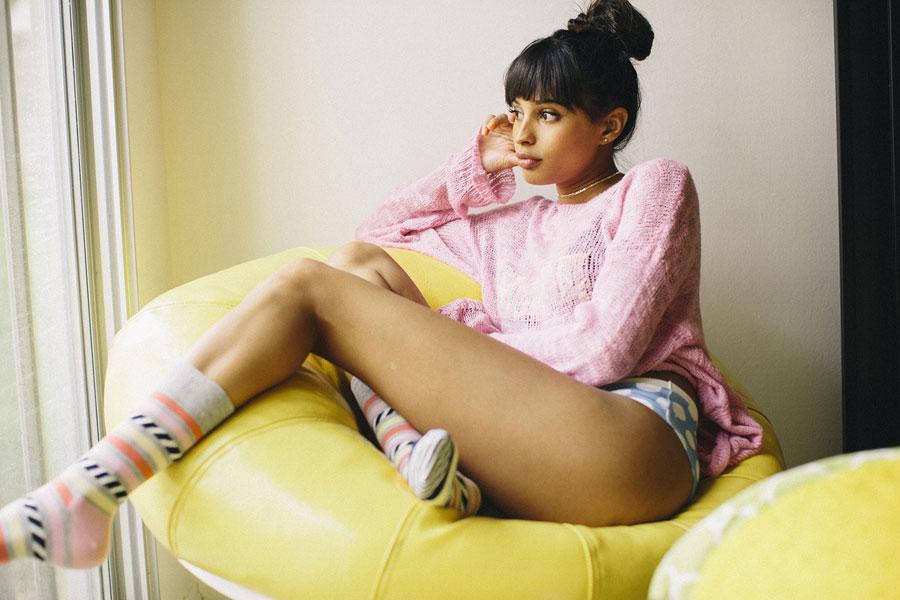 Happy Socks — barevné ponožky — dámské — vysoké — bavlněné — lookbook jaro/léto 2017