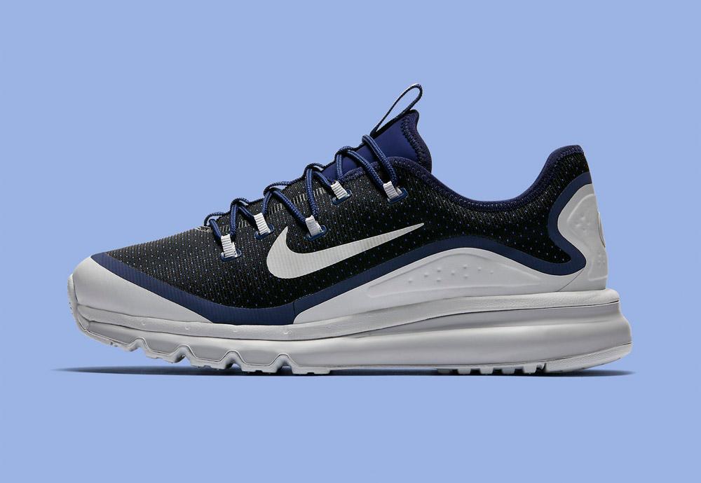 Nike Air Max More — boty — pánské — tenisky — sneakers — běžecké — bílé/modré (white/blue)