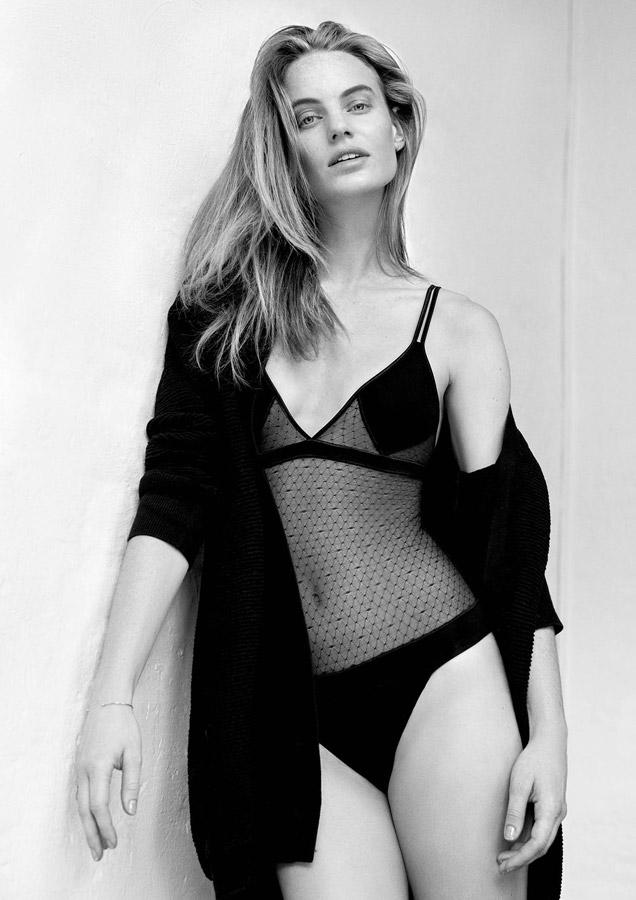 Aikyou — dámské body Greta — černé průsvitné — bavlněné dámské spodní prádlo — luxusní — sustainable — underwear — lingerie — bra — panties