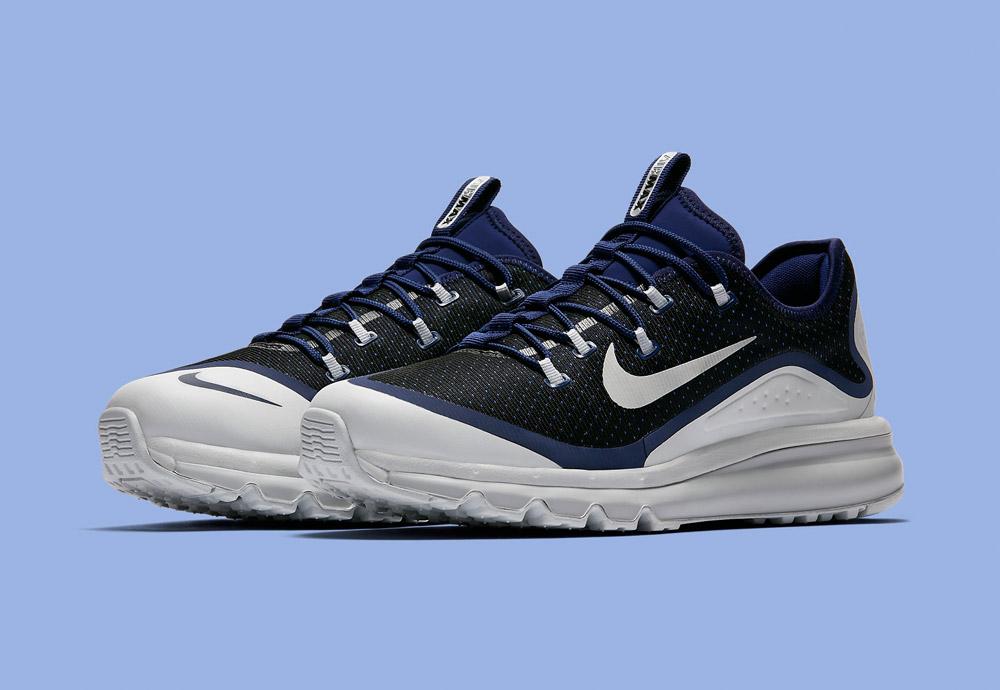 Nike Air Max More — pánské boty — tenisky — sneakers — běžecké — bílé/modré (white/blue)