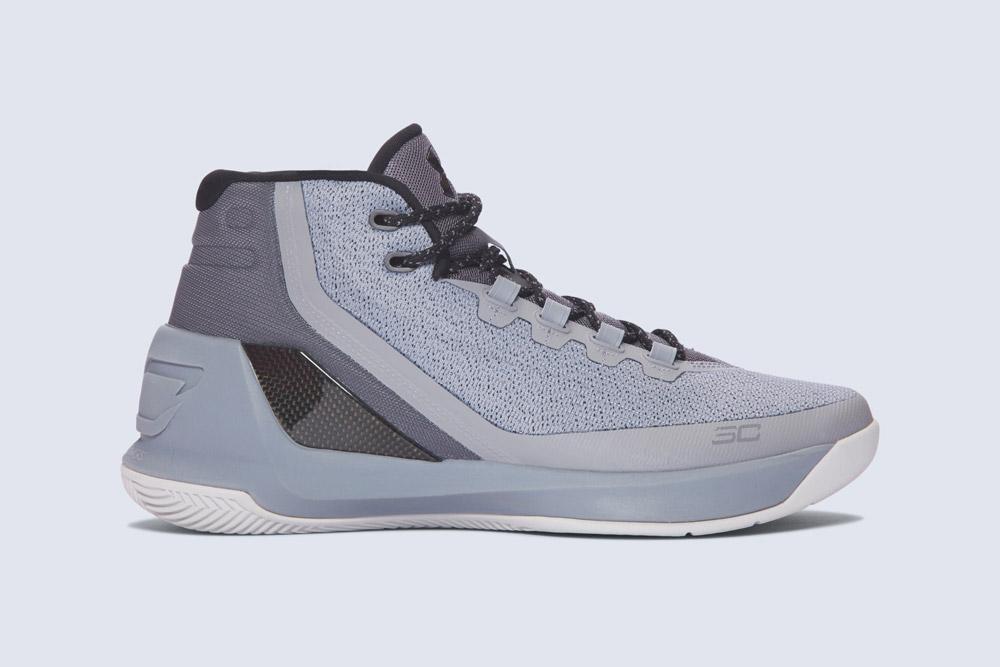 Under Armour Curry 3 — basketbalové boty — kotníkové — pánské — tenisky — sneakers — šedé (grey)
