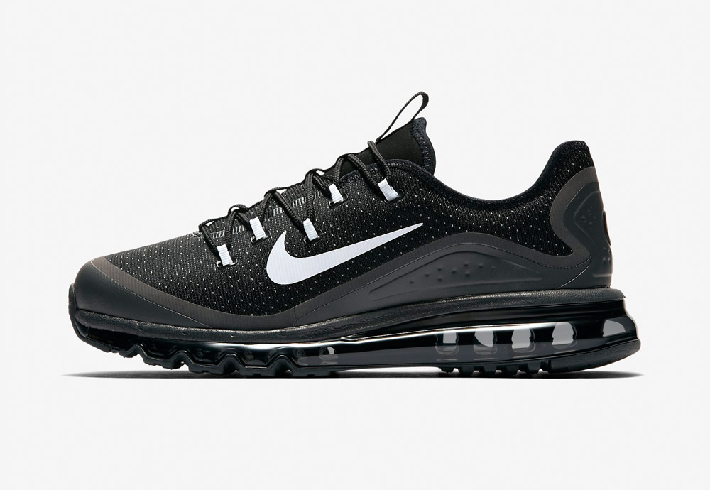 Nike Air Max More — boty — pánské — tenisky — sneakers — běžecké — černé (black)