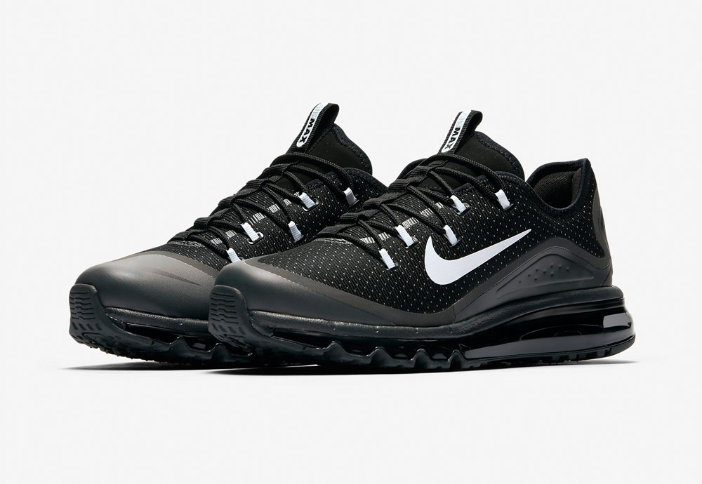Nike Air Max More — pánské boty — tenisky — sneakers — běžecké — černé (black)