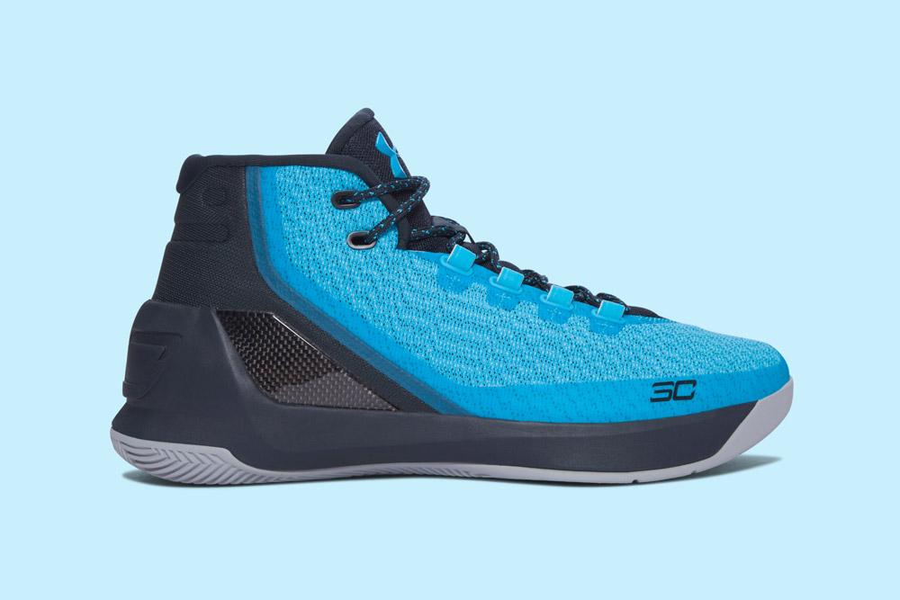 Under Armour Curry 3 — basketbalové boty — kotníkové — pánské — tenisky — sneakers — černo-modré, tyrkysové (black, blue turquoise)