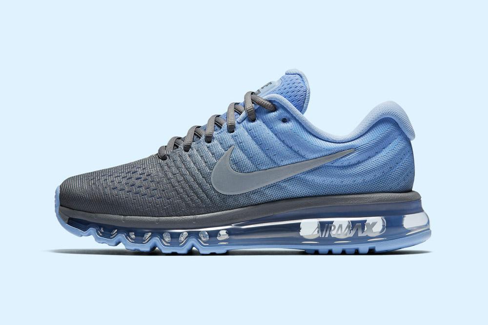 Nike Air Max 2017 — dámské běžecké boty — tenisky — sneakers — šedé, modré (grey, blue)