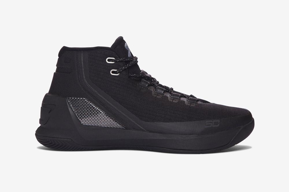 Under Armour Curry 3 — basketbalové boty — kotníkové — pánské — tenisky — sneakers — černé (black)