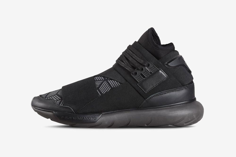 Y-3 — Qasa High — high-top sneakers — black — futuristické — kotníkové boty — tmavě šedé, černé — luxusní
