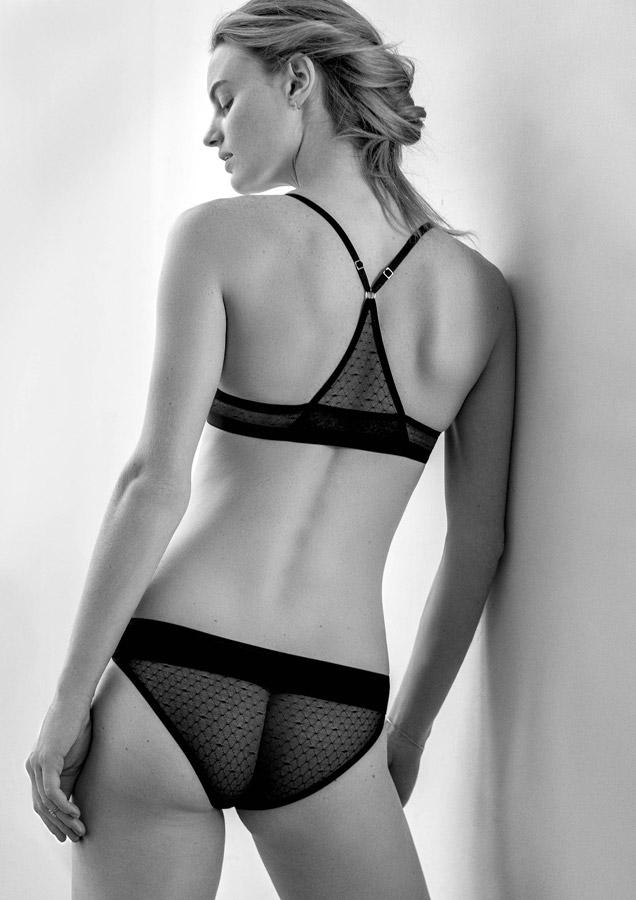 Aikyou — černé průsvitné bavlněné kalhotky Coco — černá bavlněná podprsenka Audrey — bavlněné dámské spodní prádlo — luxusní — sustainable — underwear — lingerie — panties