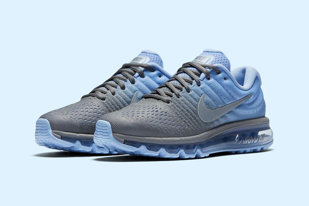 Nike Air Max 2017 — dámské běžecké boty — sneakers — tenisky — šedé, modré (grey, blue)