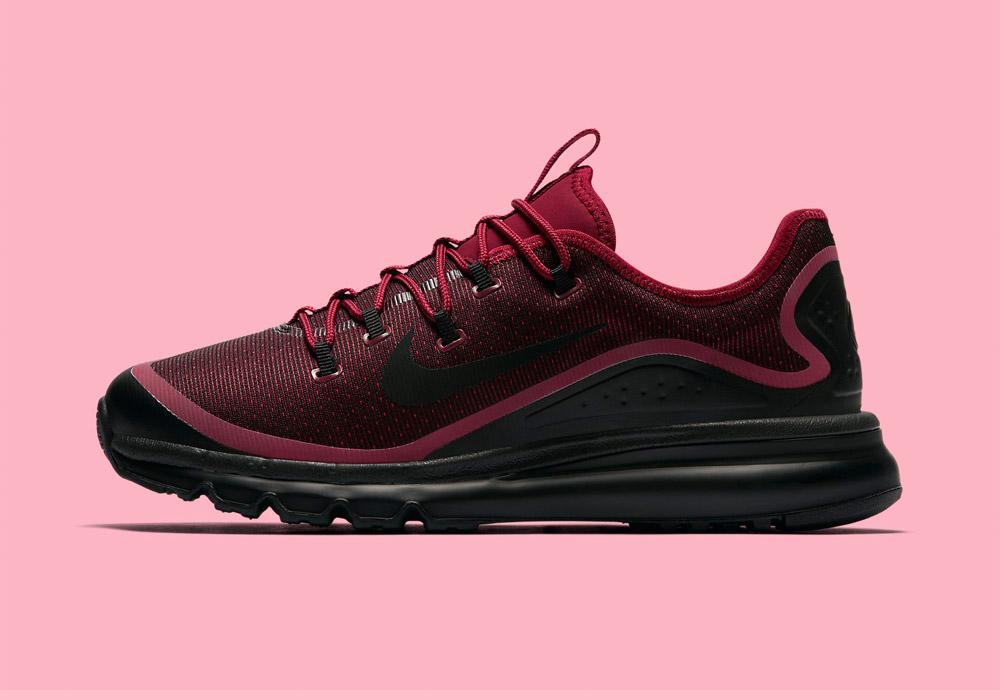 Nike Air Max More — boty — pánské — tenisky — sneakers — běžecké — červené (red)