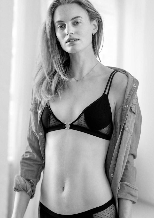Aikyou — podprsenka Milla — černá — bavlněná — průsvitná — bavlněné dámské spodní prádlo — luxusní — sustainable — underwear — lingerie — bra