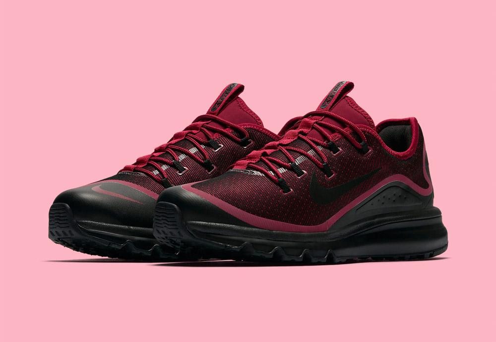 Nike Air Max More — pánské boty — tenisky — sneakers — běžecké — červené (red)