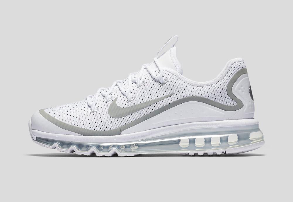 Nike Air Max More — boty — pánské — tenisky — sneakers — běžecké — bílé (white)