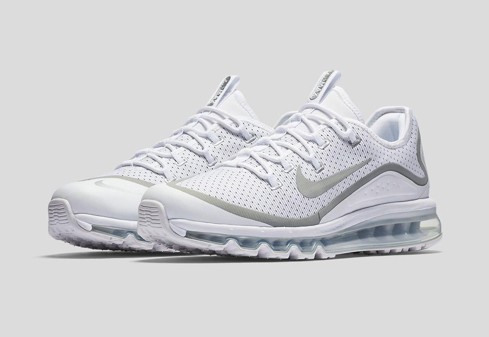 Nike Air Max More — pánské boty — tenisky — sneakers — běžecké — bílé (white)