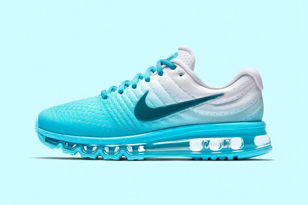 Nike Air Max 2017 — dámské běžecké boty — tenisky — sneakers — tyrkysové, bílé (blue turquoise, white)