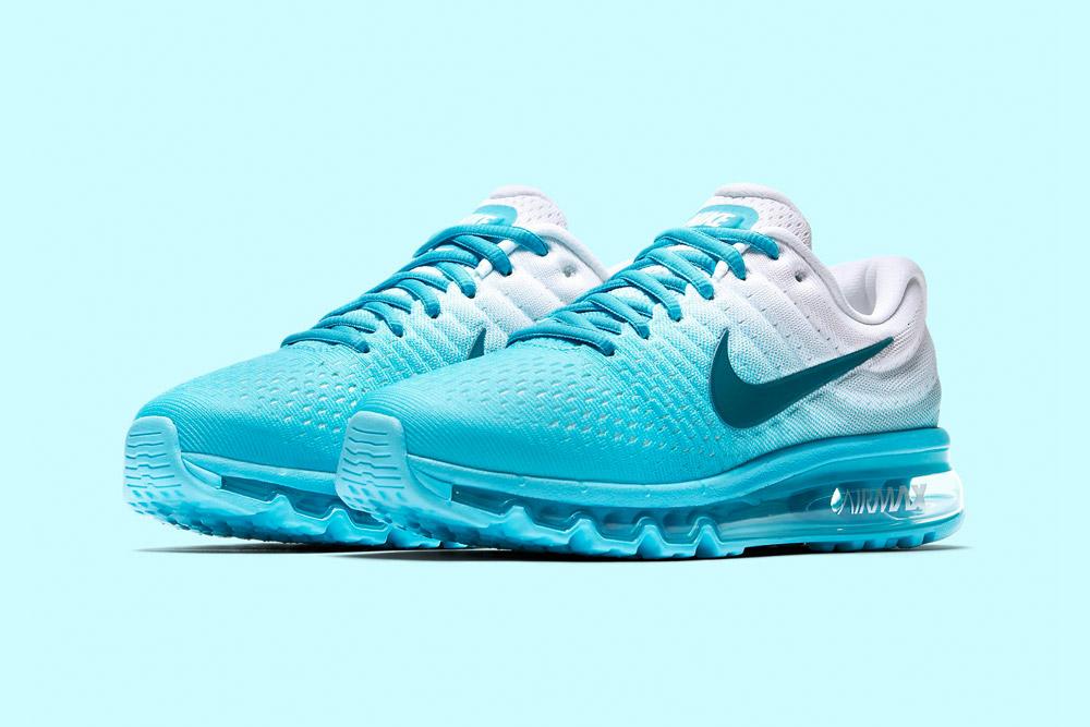 Nike Air Max 2017 — dámské běžecké boty — sneakers — tenisky — tyrkysové, bílé (blue turquoise, white)