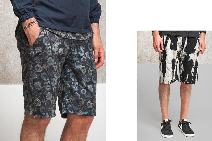 Publish — květinové šortky — černobílé šortky se vzorem — lookbook jaro 2017