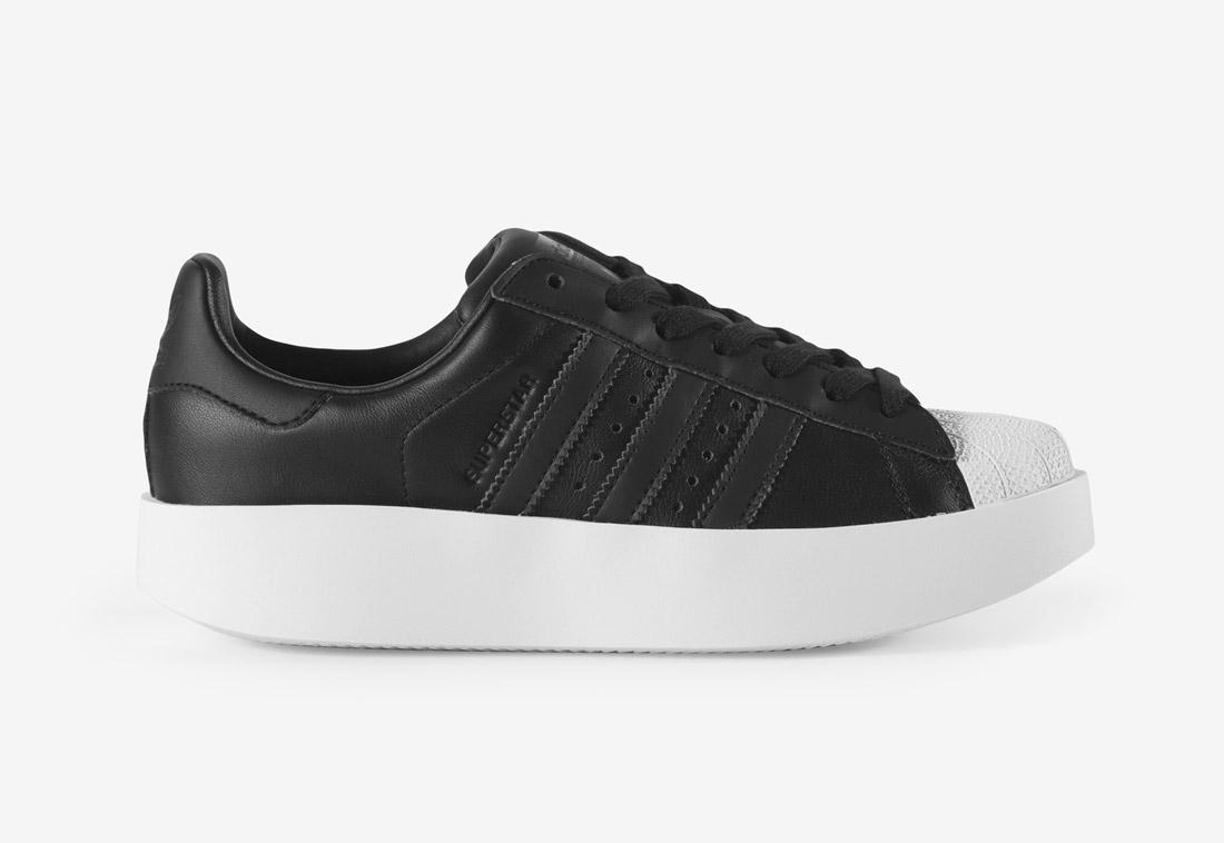 adidas Originals Superstar Bold — tenisky na platformě — dámské — boty — sneakers — černé