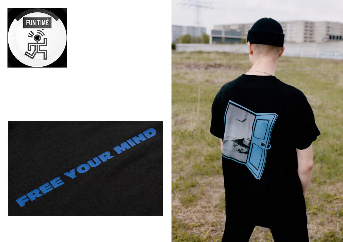 Funtime — černé tričko s potiskem — lookbook léto 2017