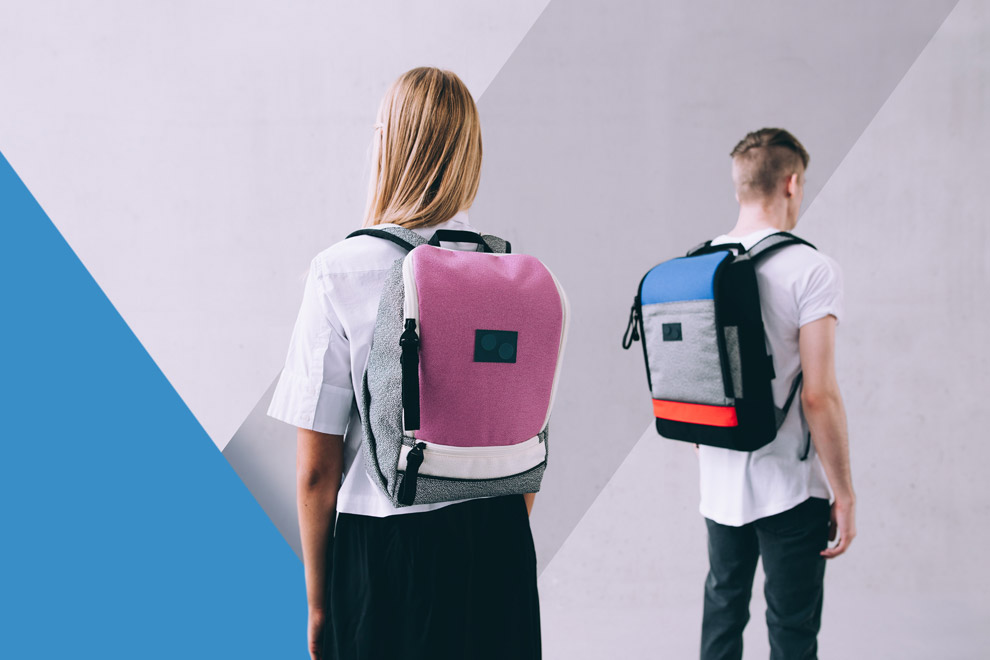Pinqponq — batohy — recyklované z PET — sustainable — backpacks